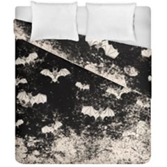 Vintage Halloween Bat Pattern Duvet Cover Double Side (california King Size) by Valentinaart