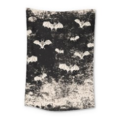 Vintage Halloween Bat Pattern Small Tapestry by Valentinaart