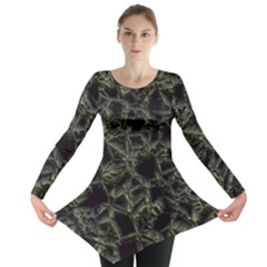 Jagged Stone 2d Long Sleeve Tunic  by MoreColorsinLife