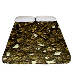Jagged Stone 3b Fitted Sheet (queen Size) by MoreColorsinLife