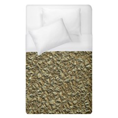 Jagged Stone Golden Duvet Cover (single Size) by MoreColorsinLife