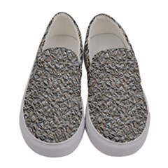 Jagged Stone Silver Women s Canvas Slip Ons