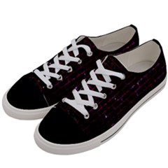 Brick1 Black Marble & Burgundy Marble Women s Low Top Canvas Sneakers by trendistuff