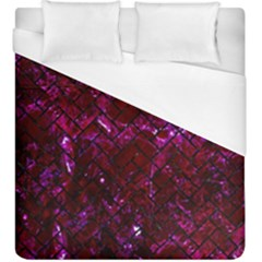 Brick2 Black Marble & Burgundy Marble (r) Duvet Cover (king Size) by trendistuff