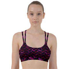 Chevron1 Black Marble & Burgundy Marble Line Them Up Sports Bra by trendistuff