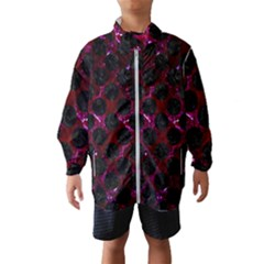 Circles2 Black Marble & Burgundy Marble (r) Wind Breaker (kids) by trendistuff
