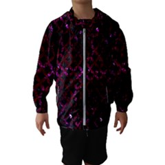 Circles3 Black Marble & Burgundy Marble Hooded Wind Breaker (kids) by trendistuff