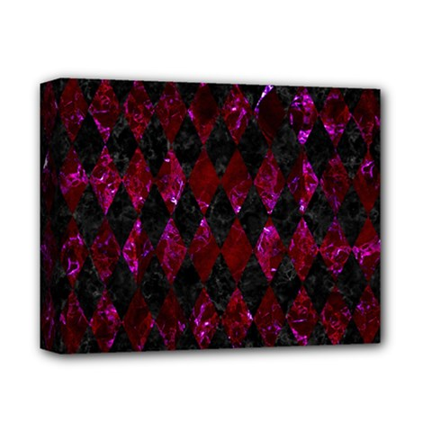 Diamond1 Black Marble & Burgundy Marble Deluxe Canvas 14  X 11  by trendistuff