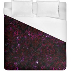 Damask1 Black Marble & Burgundy Marble Duvet Cover (king Size) by trendistuff