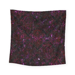 Damask1 Black Marble & Burgundy Marble Square Tapestry (small) by trendistuff