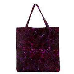 Damask2 Black Marble & Burgundy Marble (r) Grocery Tote Bag by trendistuff