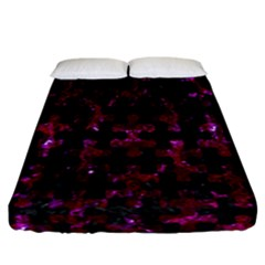 Puzzle1 Black Marble & Burgundy Marble Fitted Sheet (california King Size) by trendistuff