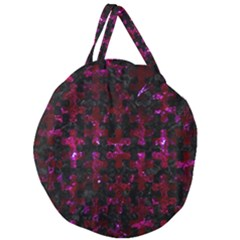 Puzzle1 Black Marble & Burgundy Marble Giant Round Zipper Tote by trendistuff