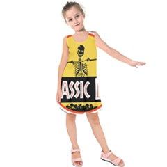 Jurassic Dad Dinosaur Skeleton Funny Birthday Gift Kids  Sleeveless Dress by PodArtist