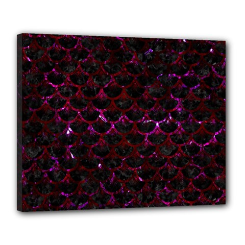 Scales3 Black Marble & Burgundy Marble Canvas 20  X 16  by trendistuff