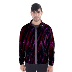 Skin3 Black Marble & Burgundy Marble Wind Breaker (men) by trendistuff