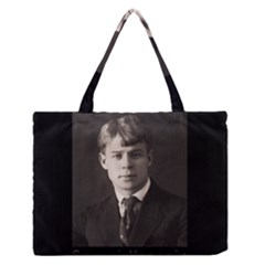 Sergei Yesenin Zipper Medium Tote Bag by Valentinaart