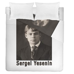 Sergei Yesenin Duvet Cover Double Side (queen Size) by Valentinaart