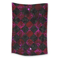 Square2 Black Marble & Burgundy Marble Large Tapestry by trendistuff