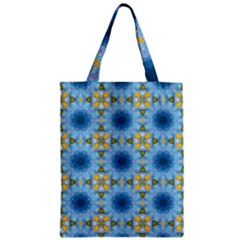 Blue Nice Daisy Flower Ang Yellow Squares Classic Tote Bag by MaryIllustrations