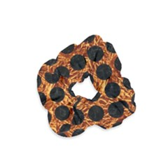 Circles1 Black Marble & Copper Foil (r) Velvet Scrunchie by trendistuff