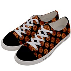 Circles2 Black Marble & Copper Foil Women s Low Top Canvas Sneakers by trendistuff