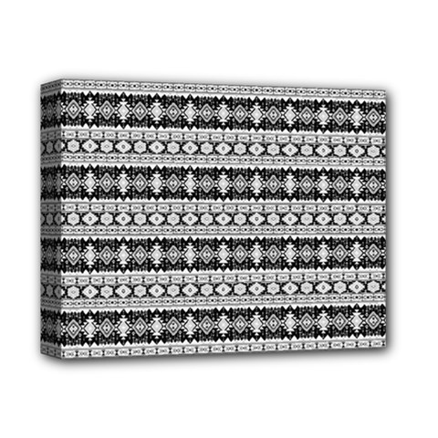 Fancy Tribal Border Pattern 17b Deluxe Canvas 14  X 11  by MoreColorsinLife
