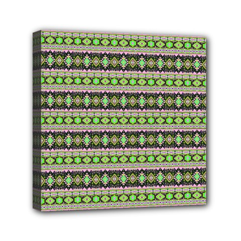 Fancy Tribal Border Pattern 17a Mini Canvas 6  X 6  by MoreColorsinLife