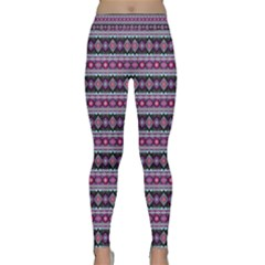 Fancy Tribal Border Pattern 17c Classic Yoga Leggings by MoreColorsinLife