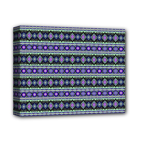 Fancy Tribal Border Pattern 17d Deluxe Canvas 14  X 11  by MoreColorsinLife