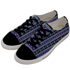 Fancy Tribal Border Pattern 17d Men s Low Top Canvas Sneakers by MoreColorsinLife