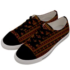 Fancy Tribal Border Pattern 17e Men s Low Top Canvas Sneakers by MoreColorsinLife