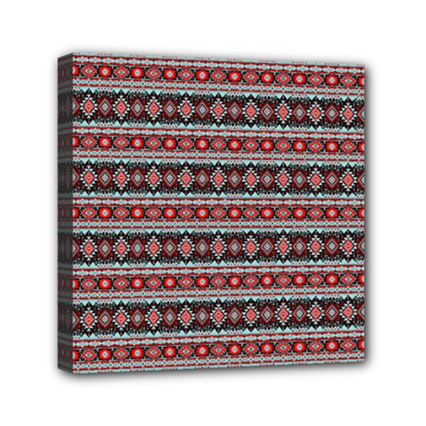 Fancy Tribal Border Pattern 17f Mini Canvas 6  X 6  by MoreColorsinLife