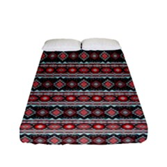 Fancy Tribal Border Pattern 17f Fitted Sheet (full/ Double Size) by MoreColorsinLife