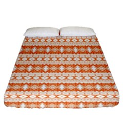 Fancy Tribal Border Pattern 17i Fitted Sheet (queen Size) by MoreColorsinLife