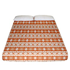 Fancy Tribal Border Pattern 17i Fitted Sheet (california King Size) by MoreColorsinLife