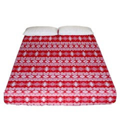 Fancy Tribal Border Pattern 17h Fitted Sheet (california King Size) by MoreColorsinLife