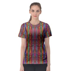 Star Fall In  Retro Peacock Colors Women s Sport Mesh Tee by pepitasart