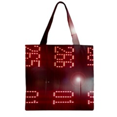 Numbers Game Zipper Grocery Tote Bag by norastpatrick