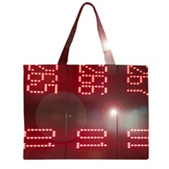 Numbers Game Zipper Large Tote Bag by norastpatrick