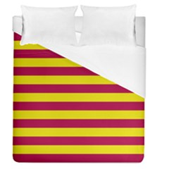 Red & Yellow Stripesi Duvet Cover (queen Size) by norastpatrick