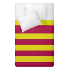 Red & Yellow Stripesi Duvet Cover Double Side (single Size) by norastpatrick