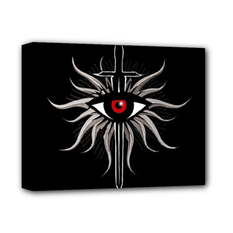 Inquisition Symbol Deluxe Canvas 14  X 11  by Valentinaart