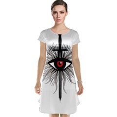Inquisition Symbol Cap Sleeve Nightdress by Valentinaart