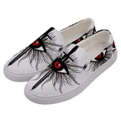 Inquisition Symbol Men s Canvas Slip Ons by Valentinaart