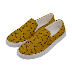 Fish Bones Pattern Women s Canvas Slip Ons by ValentinaDesign