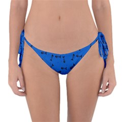 Fish Bones Pattern Reversible Bikini Bottom
