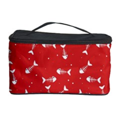 Fish Bones Pattern Cosmetic Storage Case by ValentinaDesign