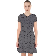 Fish Bones Pattern Adorable In Chiffon Dress