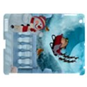 Christmas Design, Santa Claus With Reindeer In The Sky Apple iPad 3/4 Hardshell Case (Compatible with Smart Cover) View1